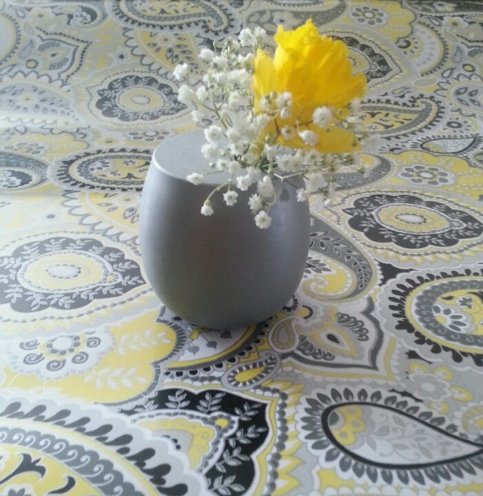 Yellow and grey wedding centerpieces grey and yellow wedding