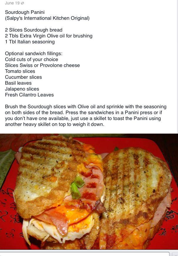SOURDOUGH PANINI | Sourdough bread and starter | Pinterest