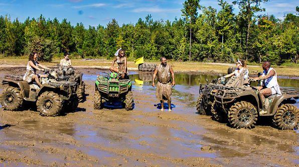 ATV mud pit soccer at The Big Nasty ATV Park in Bloomingdale, GA.
