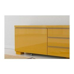 BESTÅ BURS Plank/wandkast - hoogglans geel - IKEA
