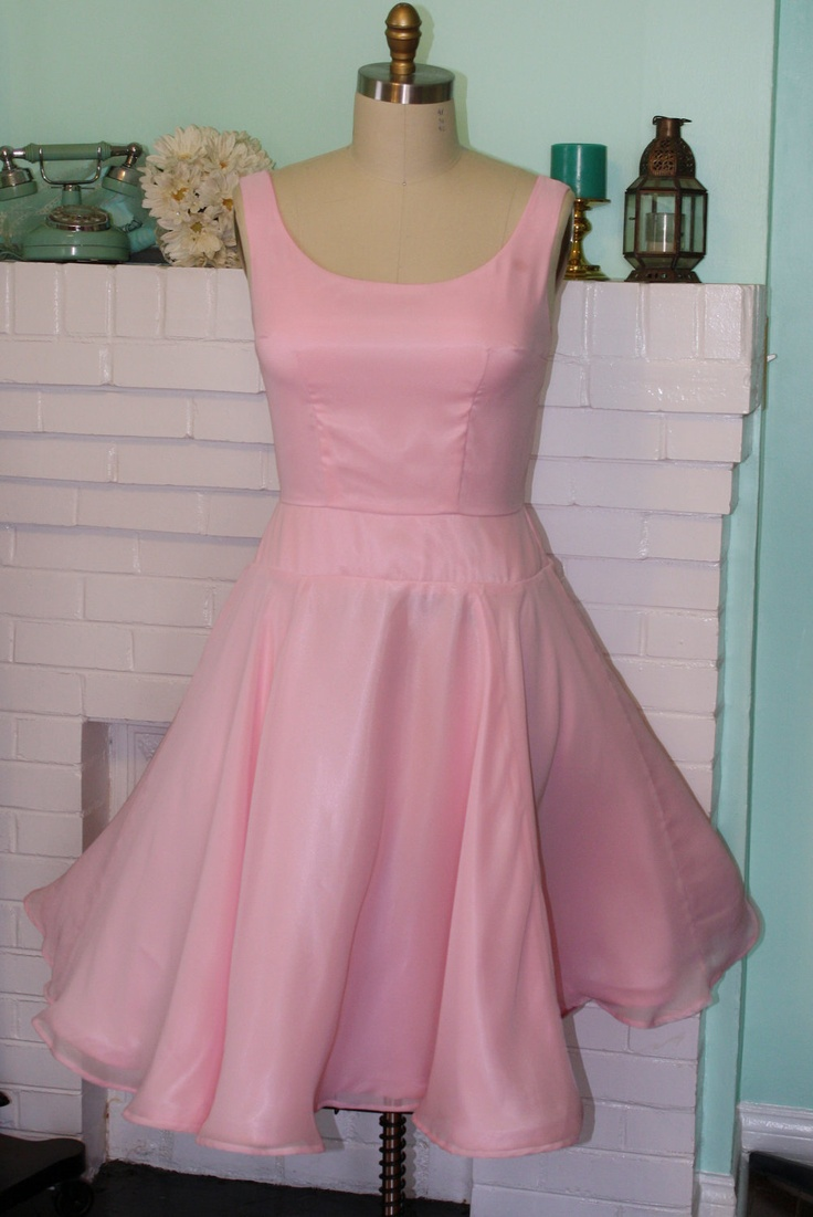 Dirty dancing dress light pink chiffon custom made to order custom s