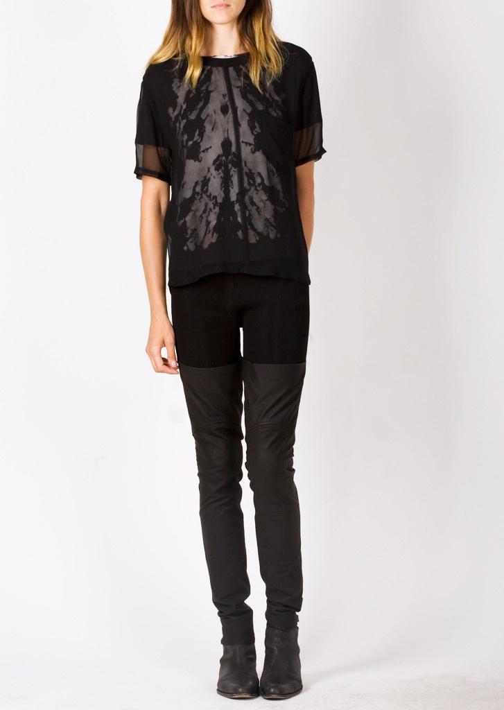 Raquel Allegra — Leather Boot Leggings Black