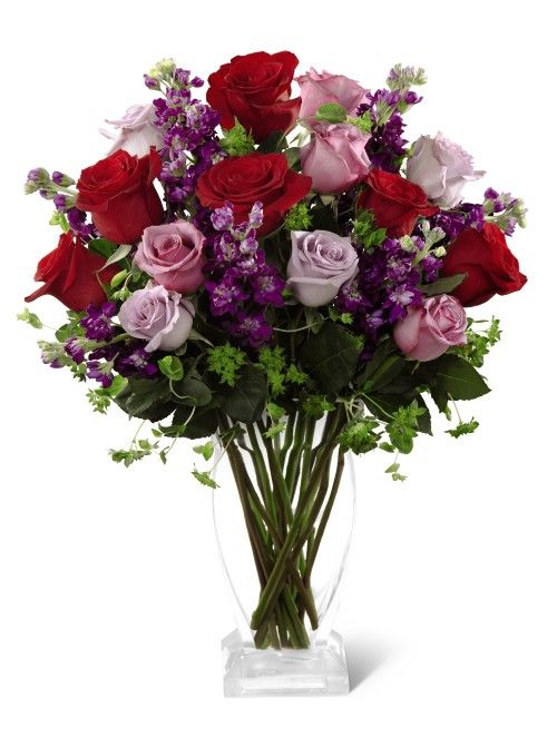 I love red and lavender #roses together | Valentine's Day ...