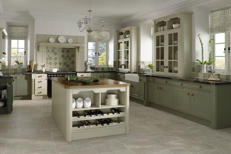 Matt Mussel Matt Olive #Kitchen More like olive wall color with white