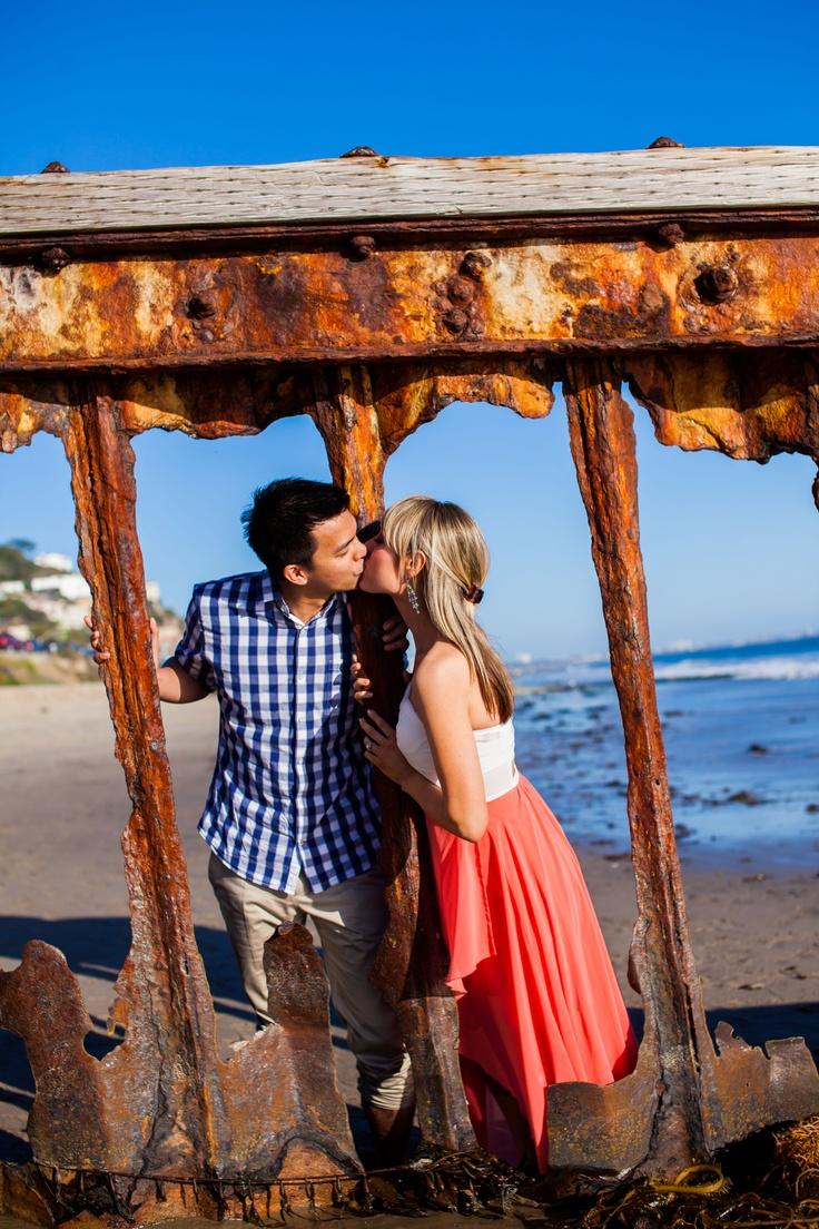 Malibu beach engagement shoot www shedlightphotography com