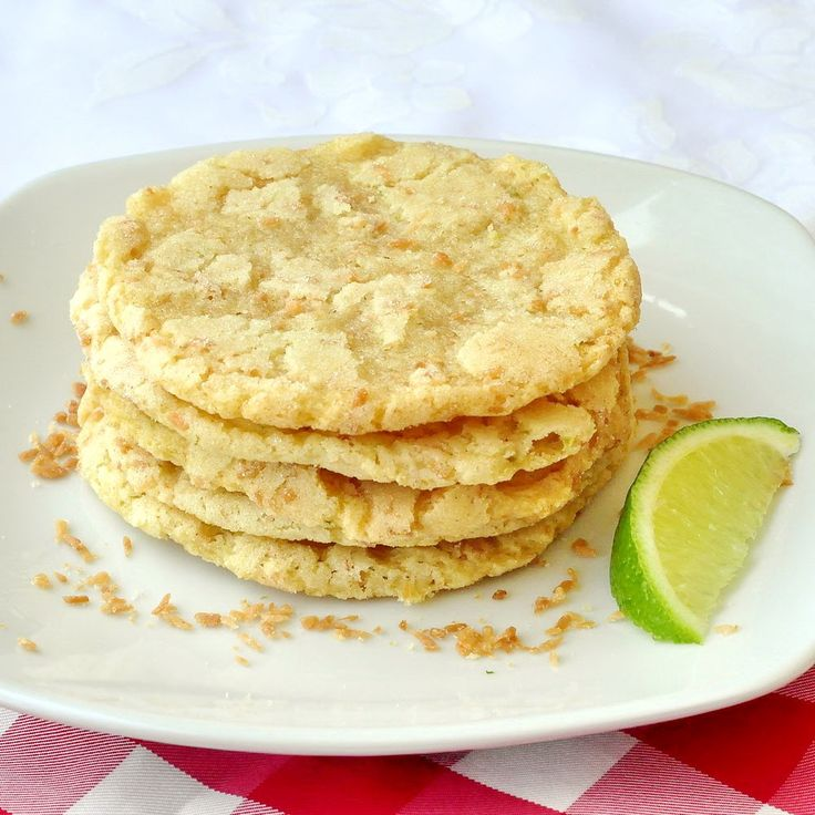 Coconut Lime Chewy Sugar Cookies | Cookies | Pinterest