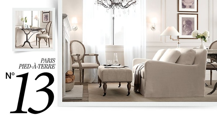 Pin by sara hacker on home design and decor pinterest - Small spaces restoration hardware set ...