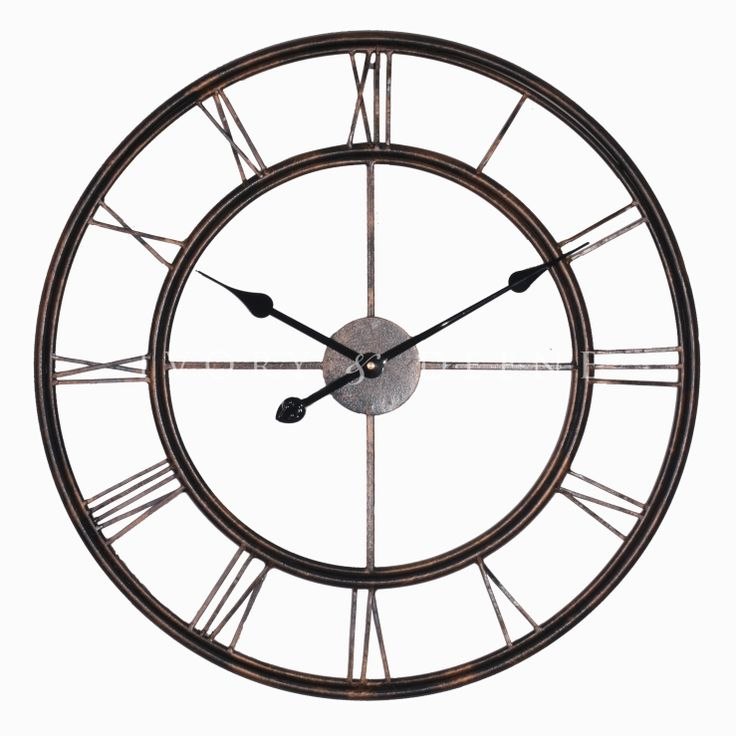 Large metal wall clock dream home pinterest Oversized metal wall clocks