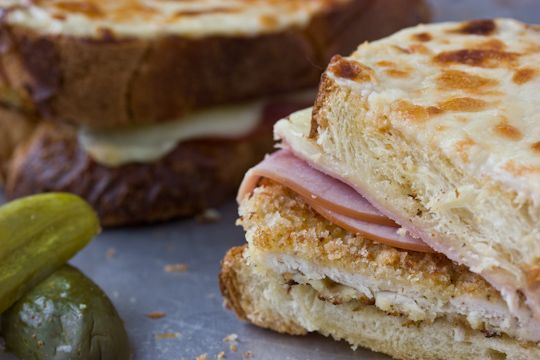 "chicken cordon bleu-croque monsieur: ""enjoy it picnic-style, with a ..."