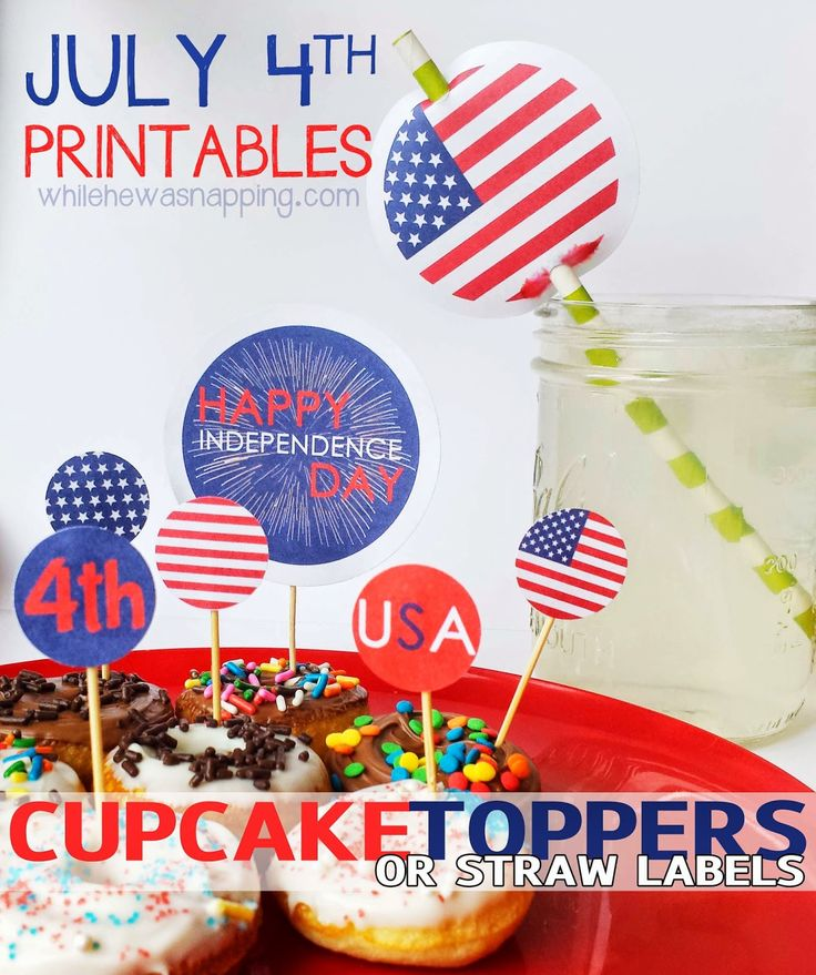 4th of july cupcake decorating kit