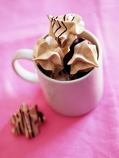 Espresso Meringue Cookies - I wanna try this out too - light, but good ...