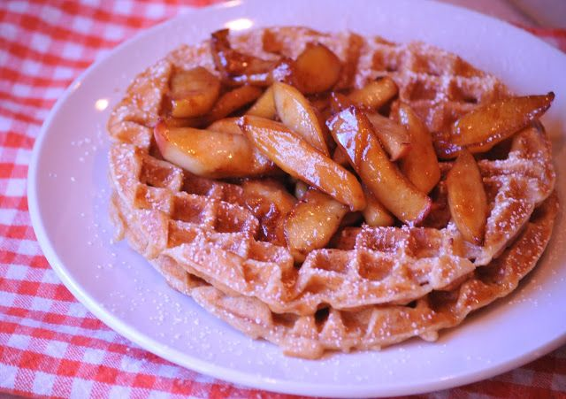 ... Kitchen | Buttermilk + Brown Sugar Waffles with Fried Cinnamon Apples