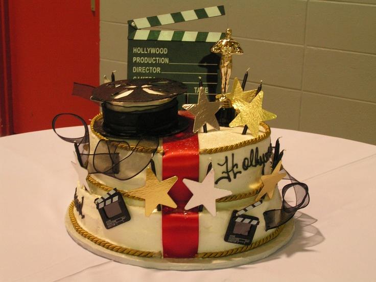 Hollywood Theme Birthday Cake Party