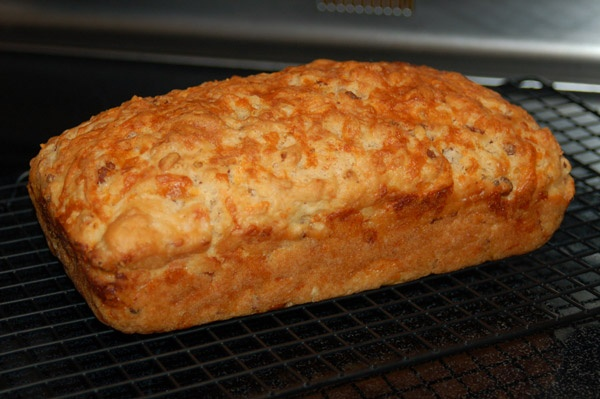 Beer Bread - good even if you leave out the cheddar and bacon (and ...