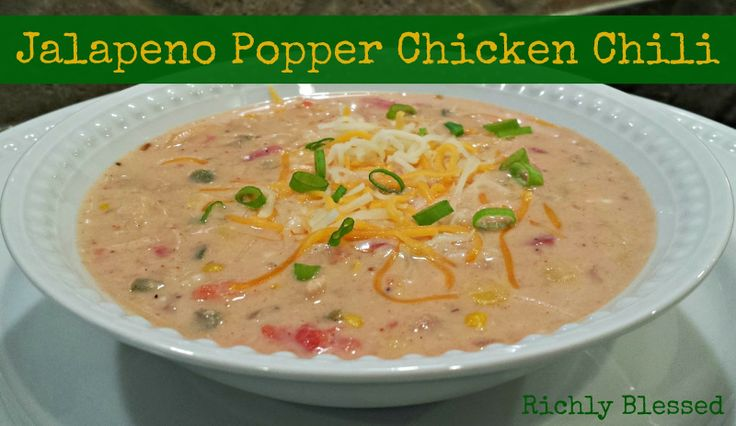Jalapeno Popper Chicken Chili - a perfect soup for fall!