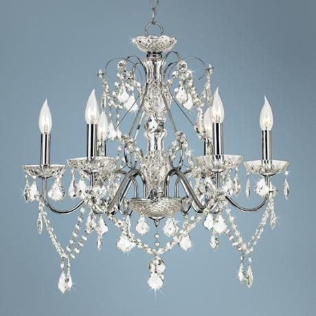 Lamps Plus Vienna Full Spectrum™ Chrome and Crystal Chandelier