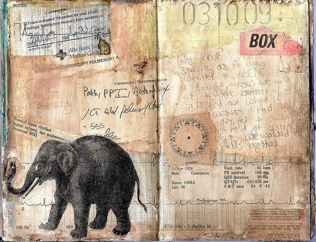 #journal page by Elke Glendenning  Love, love, LOVE!