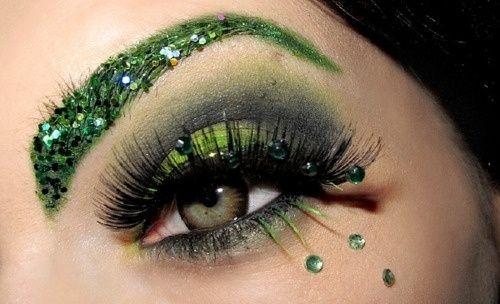 green eye makeup different-eye-makeup