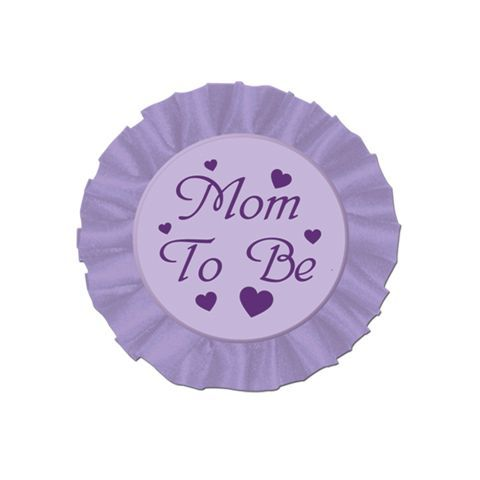 Mom To Be Purple Satin Button