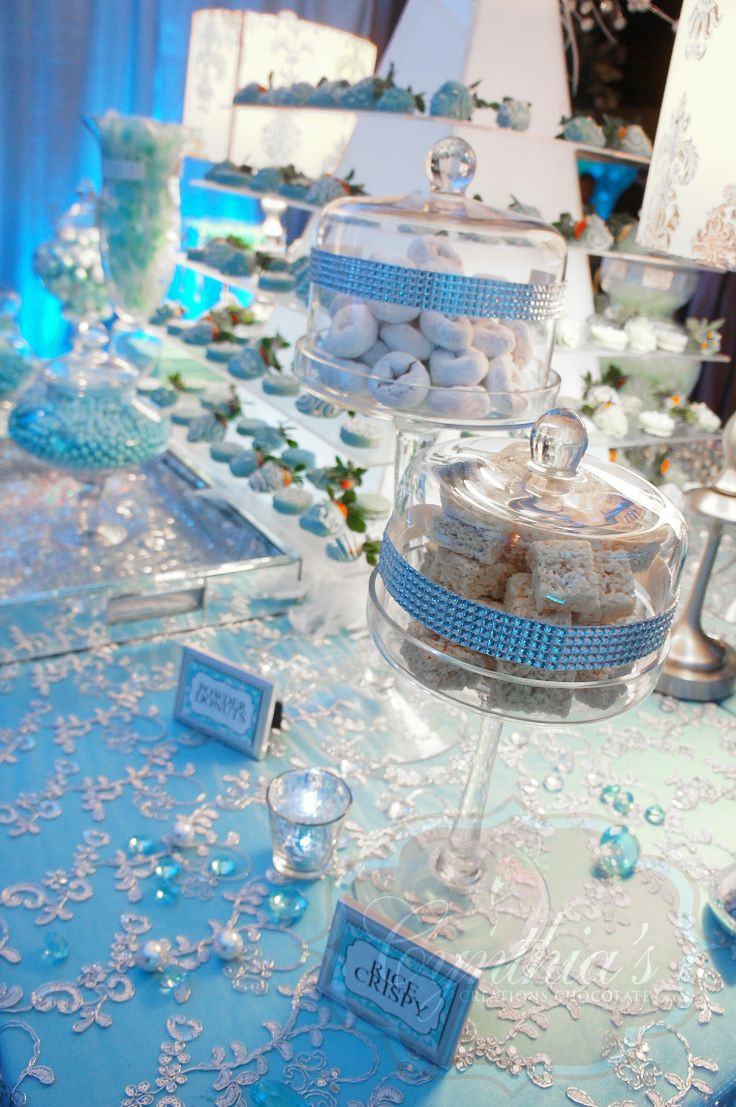 Tiffany amp co candy buffet desert table tiffany blue color