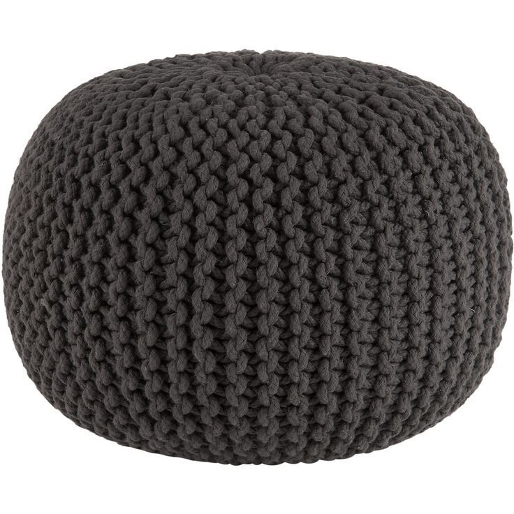 Knit Pouf Ottoman Pattern : knitted graphite pouf ottoman For the Home Pinterest