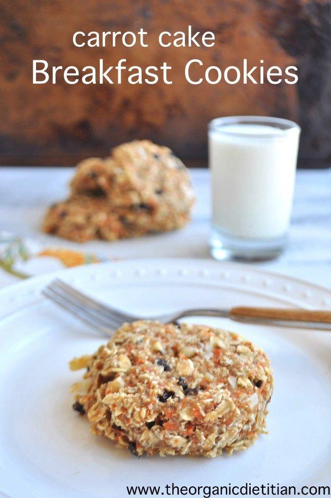 Carrot cake breakfast cookies. Ultimate breakfast on the go. Vegan ...