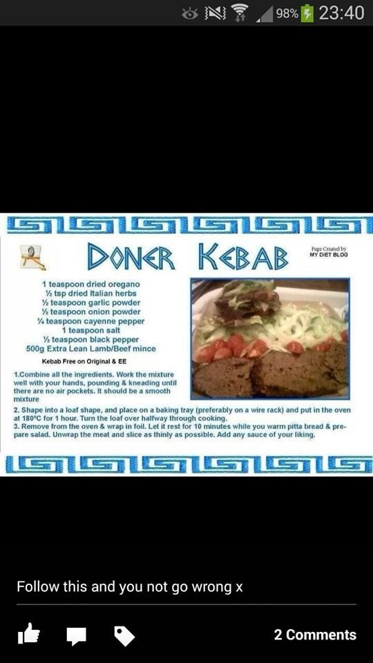 Doner kebab slimming world way slimming world pinterest Slimming world my account