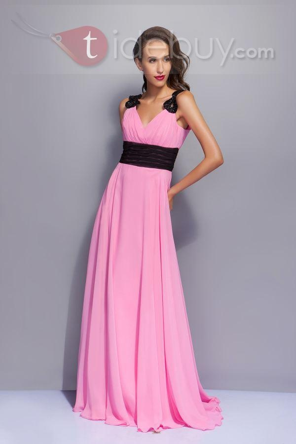 Dark pink bridesmaid dresses gown and dress gallery for Black and pink wedding dress