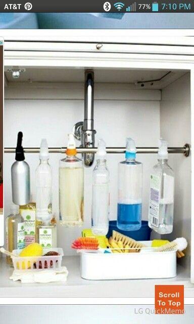 Under Cabinet Storage Idea House Ideas Pinterest