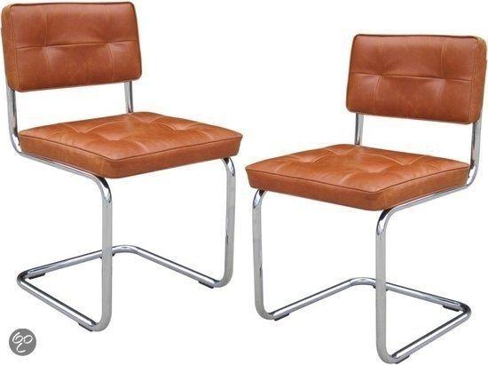 Eetkamer stoelen, cognac. Bol.com : Interieur spul : Pinterest