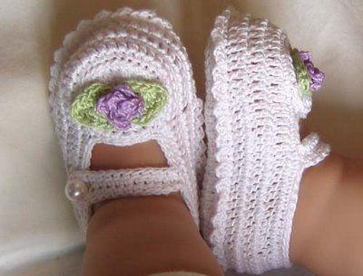 Cotton Crochet Baby Shoes Pattern : pattern Crochet Baby Booties Pinterest