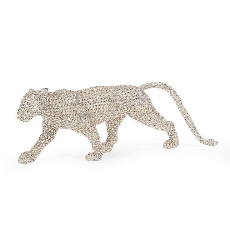 Jaguar en mousse doré et strass Doré - Black Snow - Objets de déco de Noël - Décoration de Noël - Toute la déco - Décoration d'intérieur - Alinéa