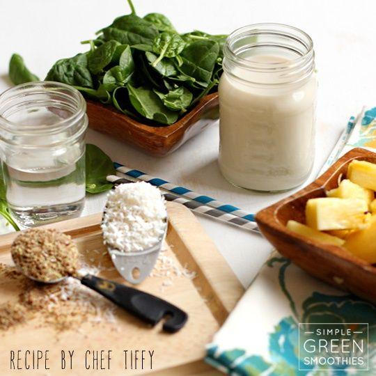 Piña Colada Green Smoothie | dolce vita | Pinterest