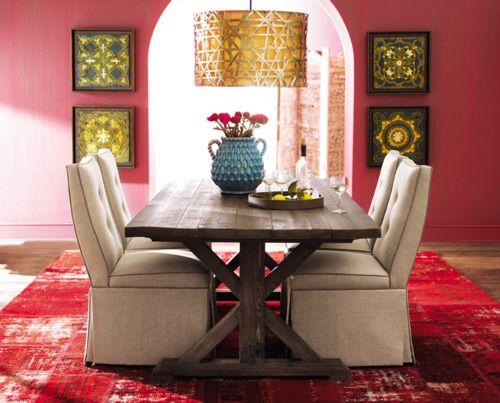 Bohemian Dining Room Inside Pinterest