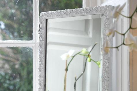 spray painting a mirror frame diy pinterest. Black Bedroom Furniture Sets. Home Design Ideas