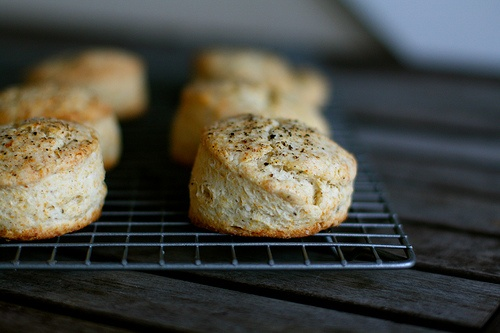 Parmesan And Black Pepper Biscuits Recipe — Dishmaps