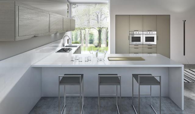 Table De Cuisine Moderne Ikea : Cuisine moderne bois à cadre inversé par Armony