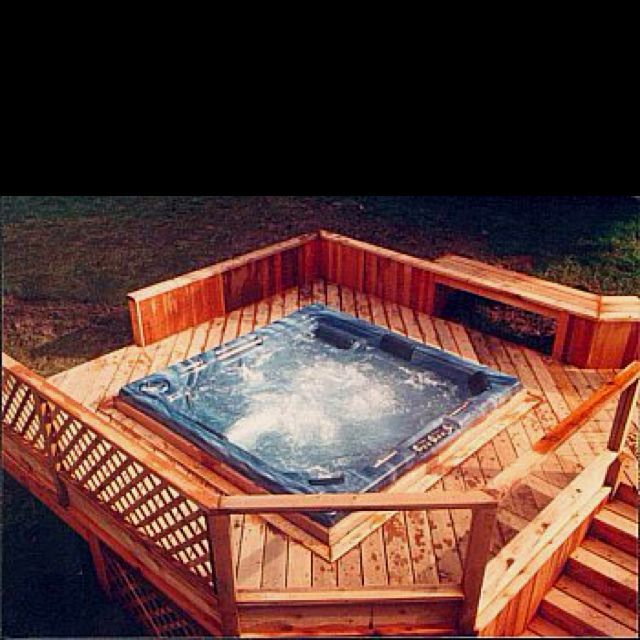Jacuzzi In My Backyard : Hot tub please come live in my backyard!