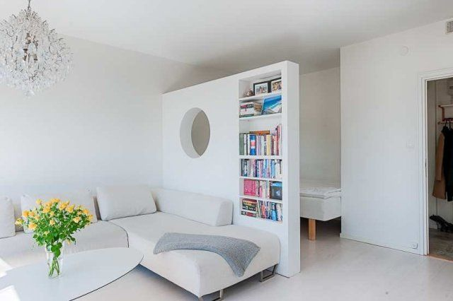 Studio apartment room divider live work space pinterest - Divider for studio apartment ...
