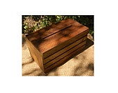 Wedding Ceremony Envelope / Gift Card Crate - Wine Box -  Stained - Rustic. $28.50, via Etsy.