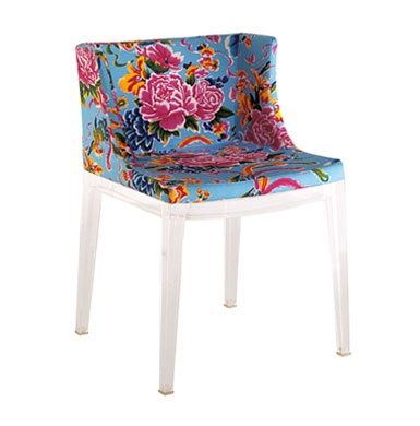 Blue mademoiselle chair in chinese prints image