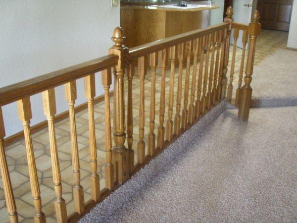 Best Oak Railing For The Stairs Landing Serendipity Pinterest 400 x 300