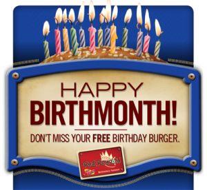 Great Big List of Birthday Club Freebies