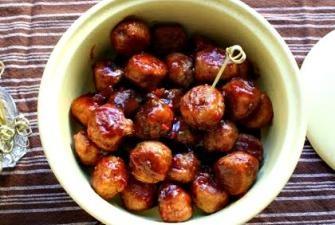 Turkey Cocktail Meatballs with Orange Cranberry Glaze Recipe | RECIPE ...