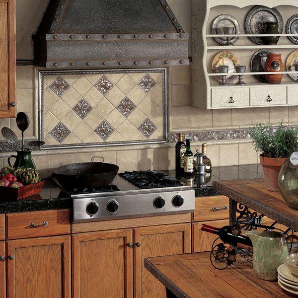 Tile inspiration gallery daltile backsplashes pinterest for Kitchen design 8 x 6