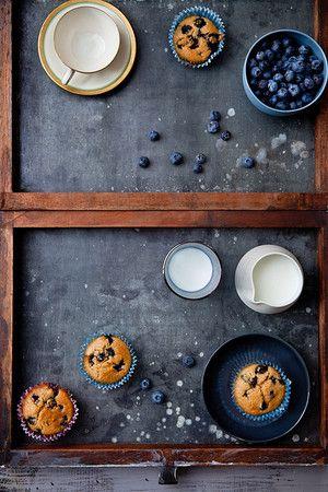 Blueberry Key Lime Tea Cakes | cafe | Pinterest