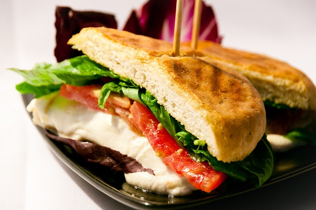 Tomato and Mozzarella Panini | Food | Pinterest