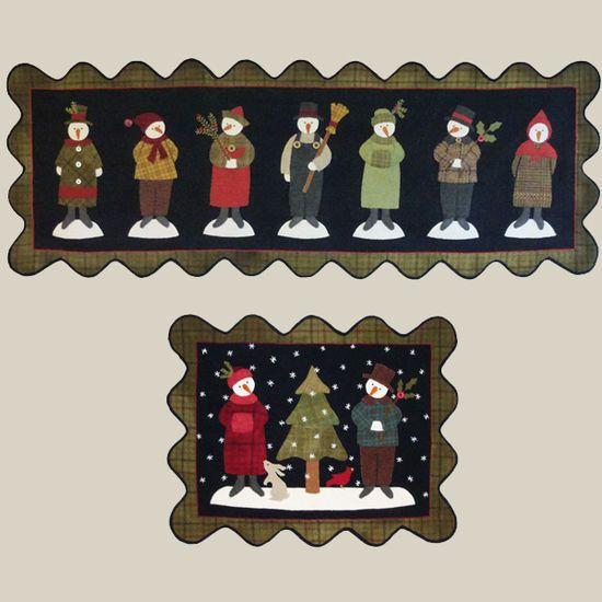 rug $8.50 patterns FiddlestixDesign, table by Pattern Wool penny Snowmen Applique Seven runner Penny