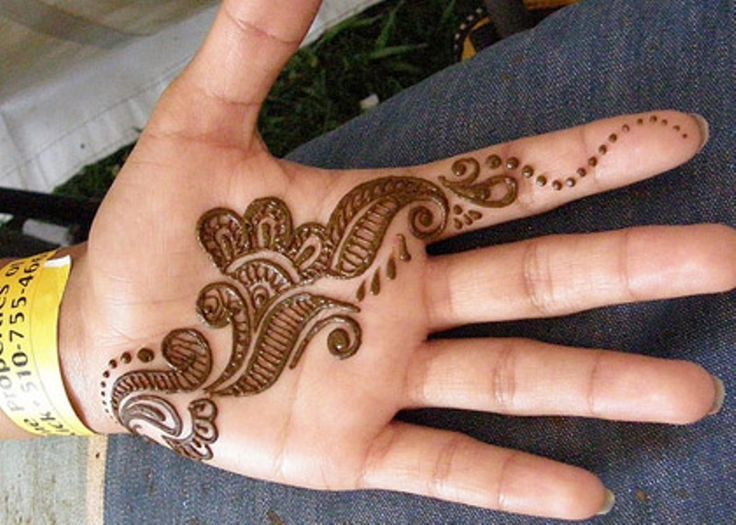Arabic Mehndi For Palm : Simple arabic henna for palm body art pinterest