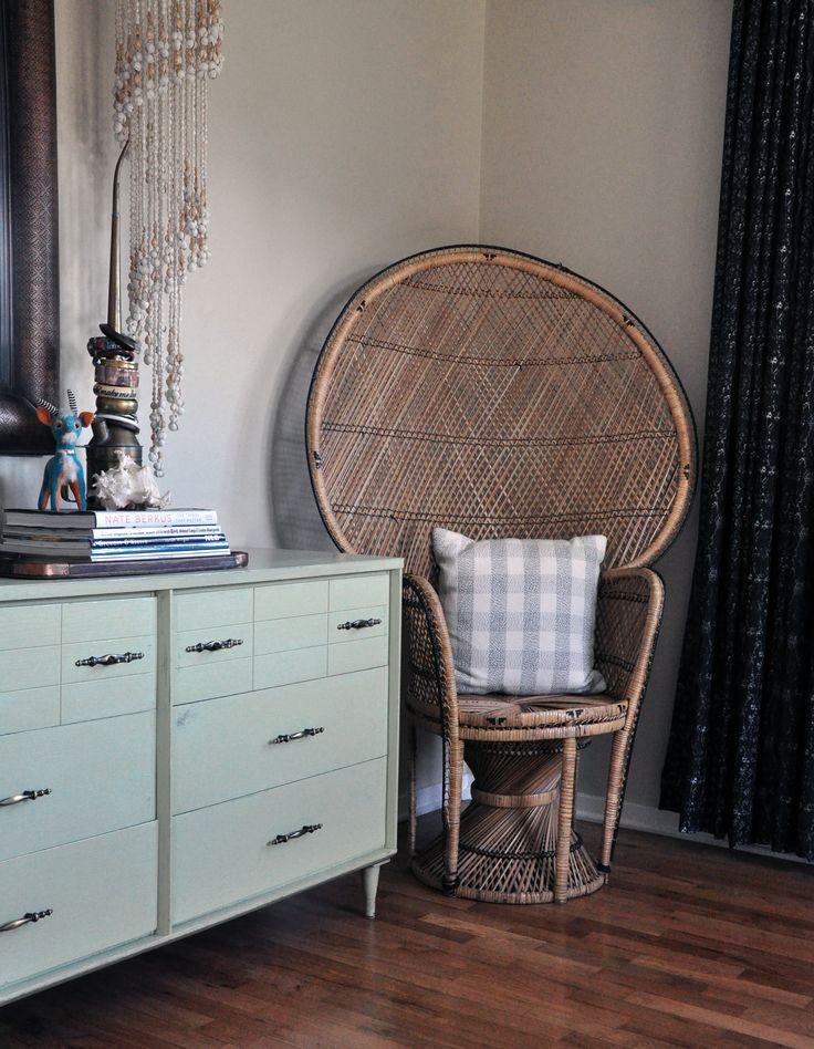 Boho bedroom corner chair